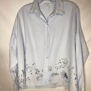 🍍Zara button down shirt